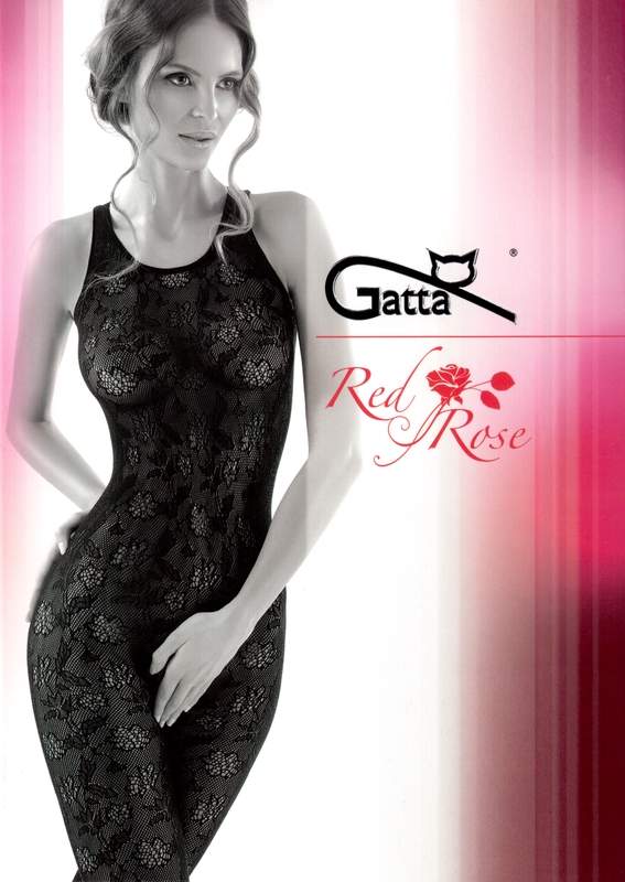Bodystocking Gatta Red Rose 03