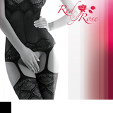 Bodystocking Gatta Red Rose 01
